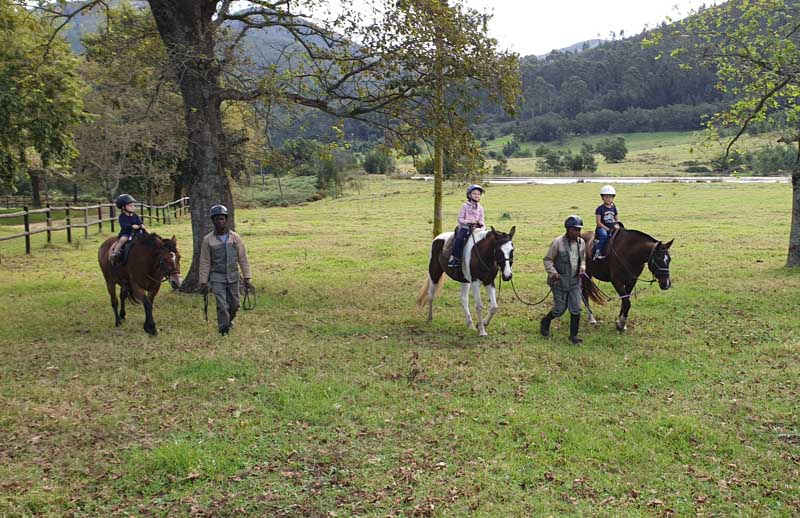 Pony Rides at Kurland Horse Trails in Plettenberg Bay